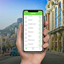 Smartphone with the free Wemo App