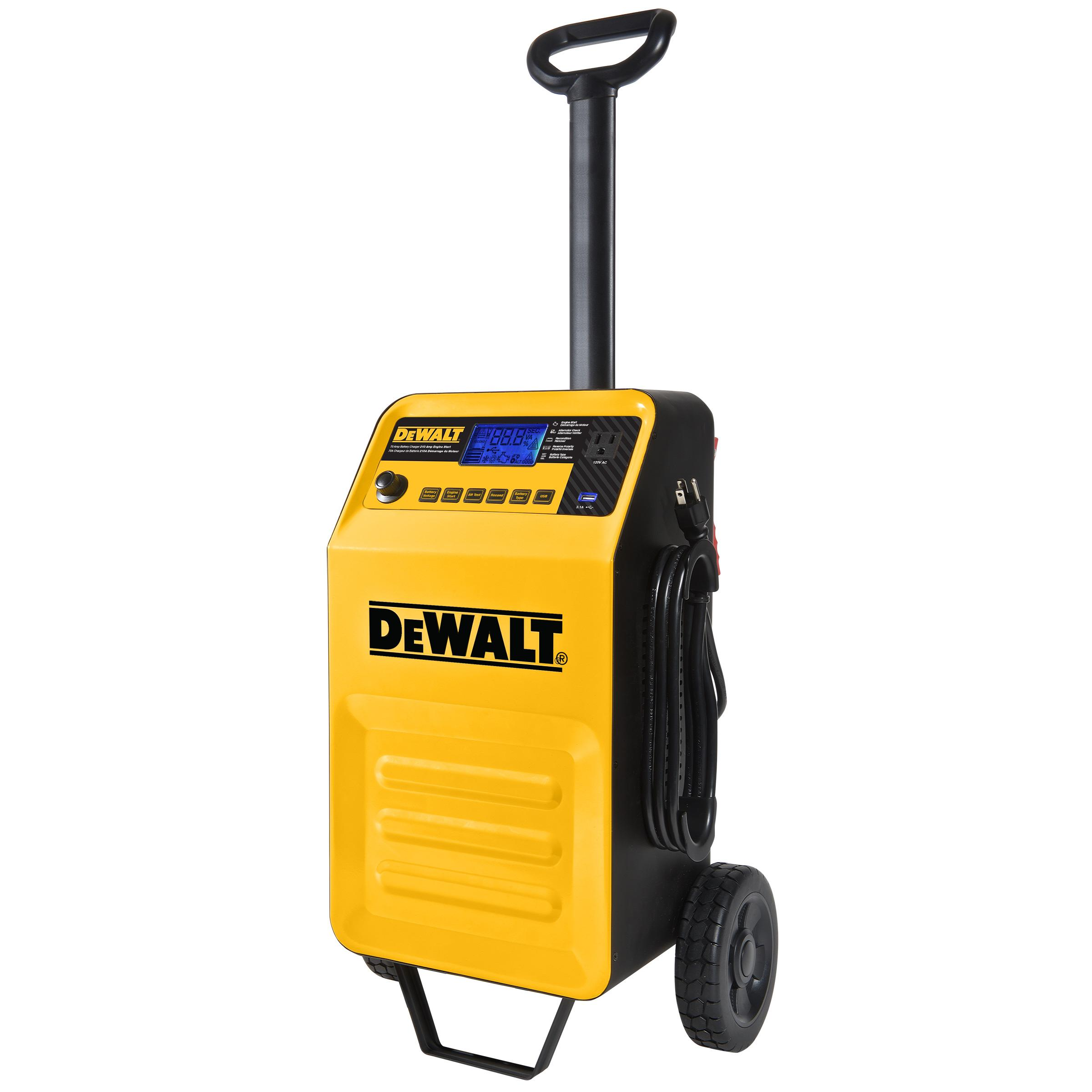 dewalt dxaec210 70 amp rolling battery charger with 210 amp engine start and 2 amp. Black Bedroom Furniture Sets. Home Design Ideas