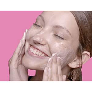 Deep facial cleansers can help boost radiance by gently buffing away leftover dead skin cells