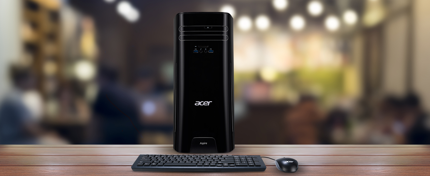 Acer Aspire Desktop, 7th Gen Intel Core i5-7400, 12GB DDR4, 2TB HDD,  Windows 10 Home, TC-780-ACKI5