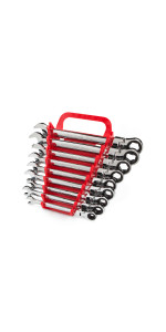 flex ratcheting combination wrench set