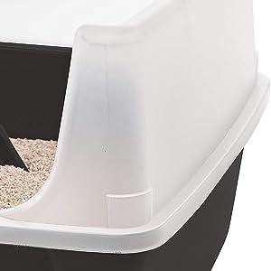 Bord surélevé du bac à litière en plastique Cat Litter Box
