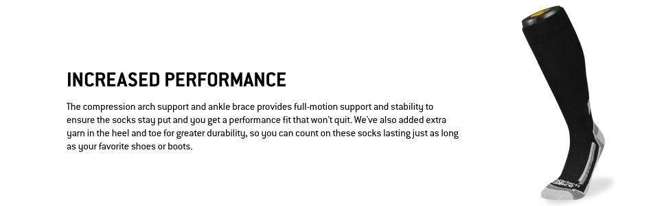 Force Performance Crew Socks For men with arch support