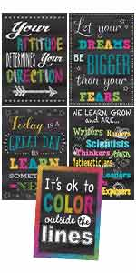 chalkboard brights positive poster pack
