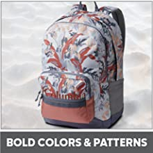 Fun backpack colors and patterns