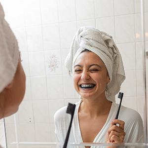 black toothpaste = white teeth