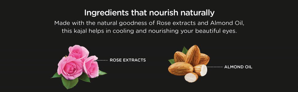 made with the natural goodness of rose extracts and almond oil, kajal helps in cooling your eyes