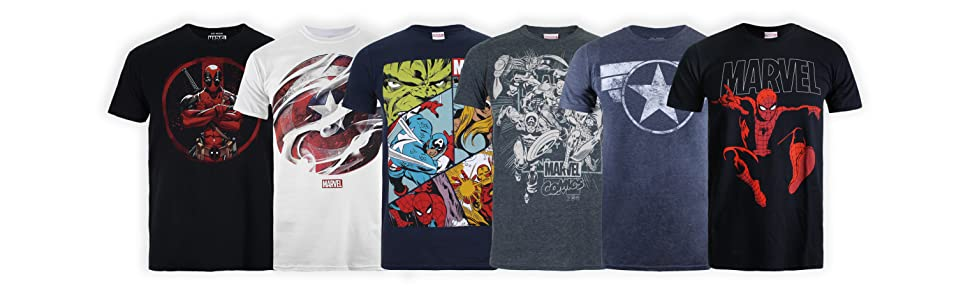 Marvel Mono Logo T-Shirt Uomo
