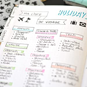 Bullet journal, planner, diy, toga, carnet, planning, agenda