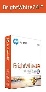 copy paper, HP paper, 8.5x11, printer paper, computer paper, bright white paper, 24lb, 100 bright