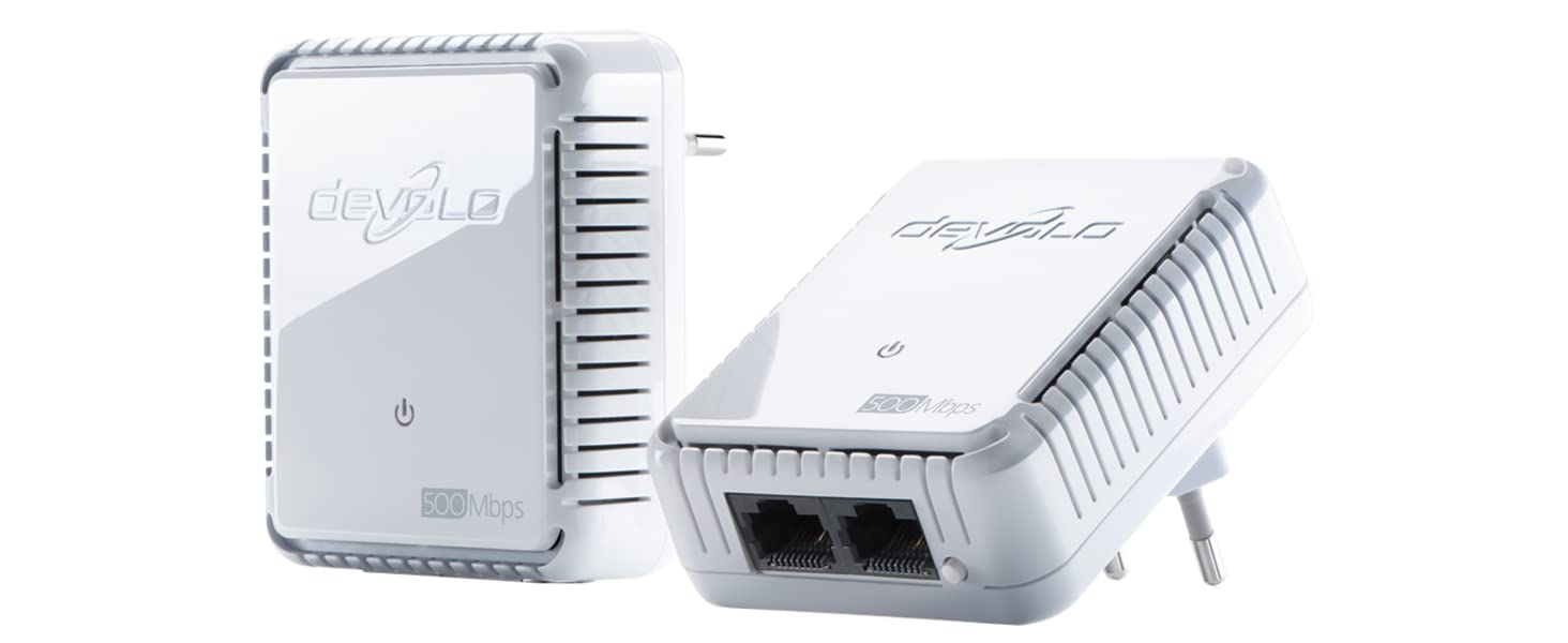 Devolo Dlan 500 Duo Starter Kit Powerline 500 Mbps Computers Accessories