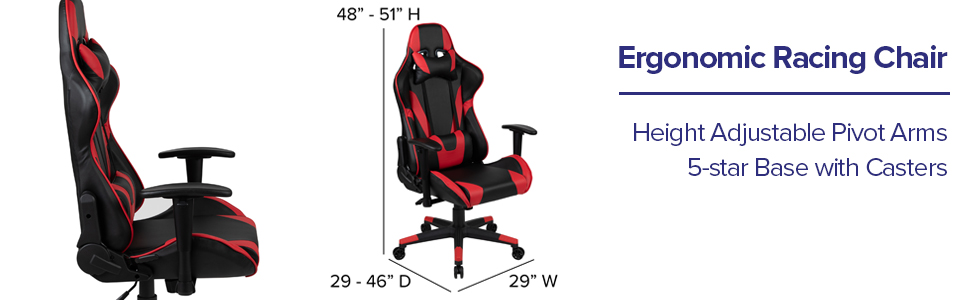 Flash Furniture Ergonomic Racing Chair