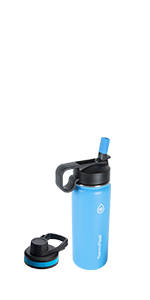 18 oz thermoflask in light blue
