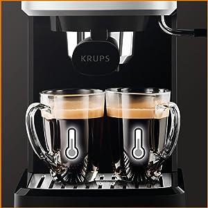 pression temperature krups XP344010 machine expresso calvi café