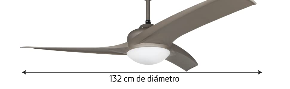 Orbegozo CP 89132 Ventilador de techo con luz y mando a distancia ...