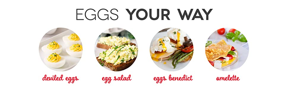 rapid . egg . cooker . eggs . hard . boiled . poached . deviled . features . tools . storage . compact . perfect