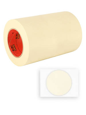 HD-6-250 6 Circles HD-6.000-250 3M 2364 Performance Masking Tape 6 Circles HD-6-250 Crepe Paper Pack of 250 Tan