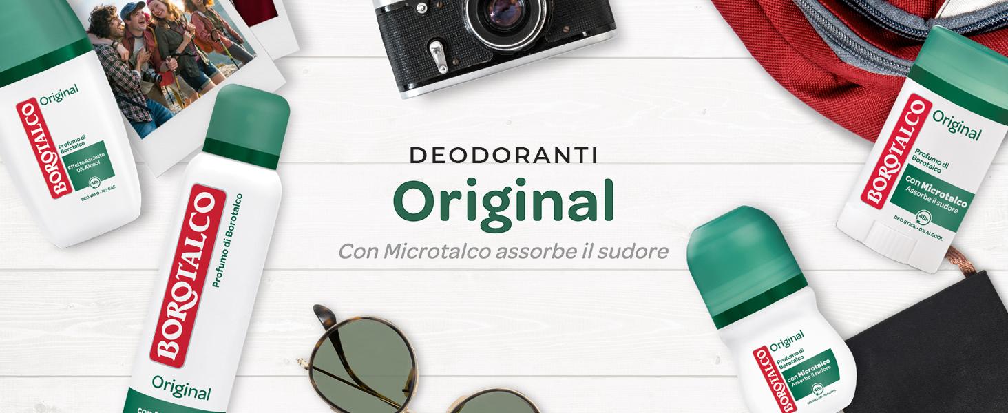 Borotalco, deodorante original, microtalco