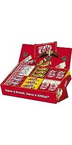 Nestlé Sortimentskarton - Kombination unserer Bestseller Schokoriegel in einer Mix Box fü Büro/Kiosk