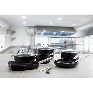 Quid Pro Chef - Sartén de acero inox 20 cm, apta para horno e inducción