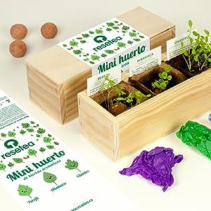 Huerto urbano, cultivo, semillas, hierbas aromáticas, regalo, original, natural, amigo invisible