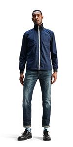 Pantalones vaqueros ajustados para hombre, pantalones vaqueros para hombre, pantalones de mezclilla, pantalones de mezclilla azules, skinny, elásticos negros