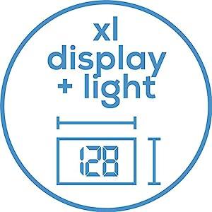 Extra großes, beleuchtetes XL-Display