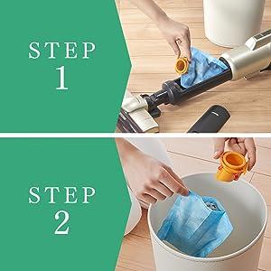 簡単ゴミ捨て2ステップ