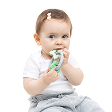 bumkins silicone baby teether