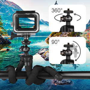 Rhodesy Octopus Style Tripod with Bluetooth Remote