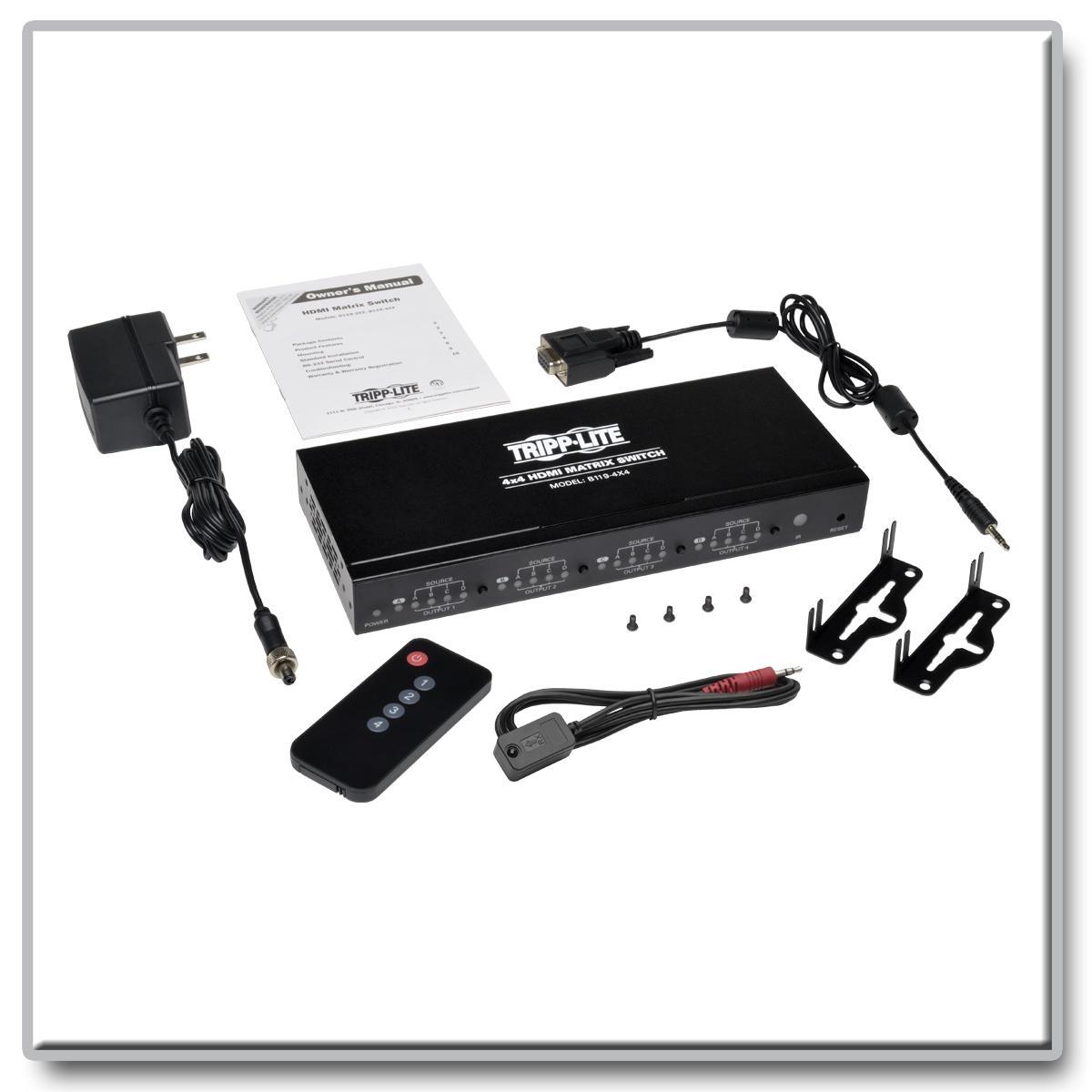 Tripp Lite 4x4 Hdmi Matrix Switch For Video And Audio Details About Cat5e Cat6 Auto Splitter Extender View Larger