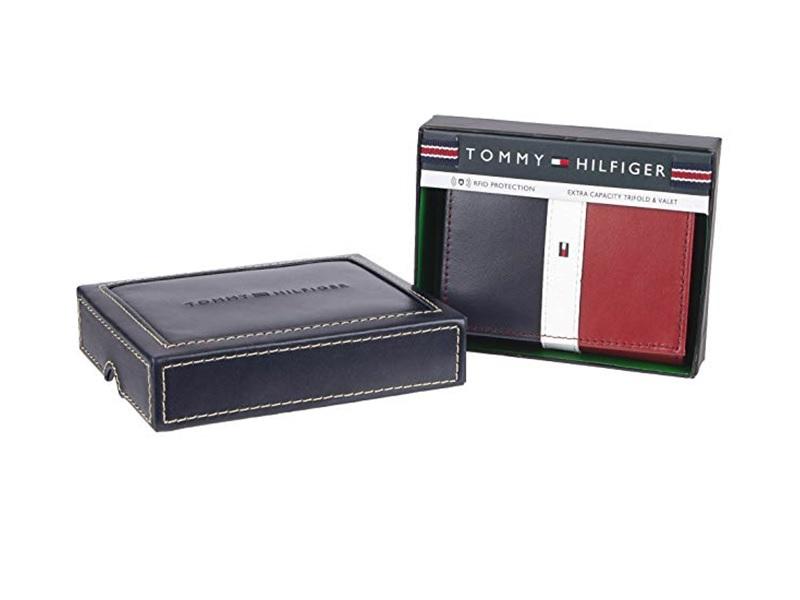 Tommy Hilfiger Mens Leather Black Wallet
