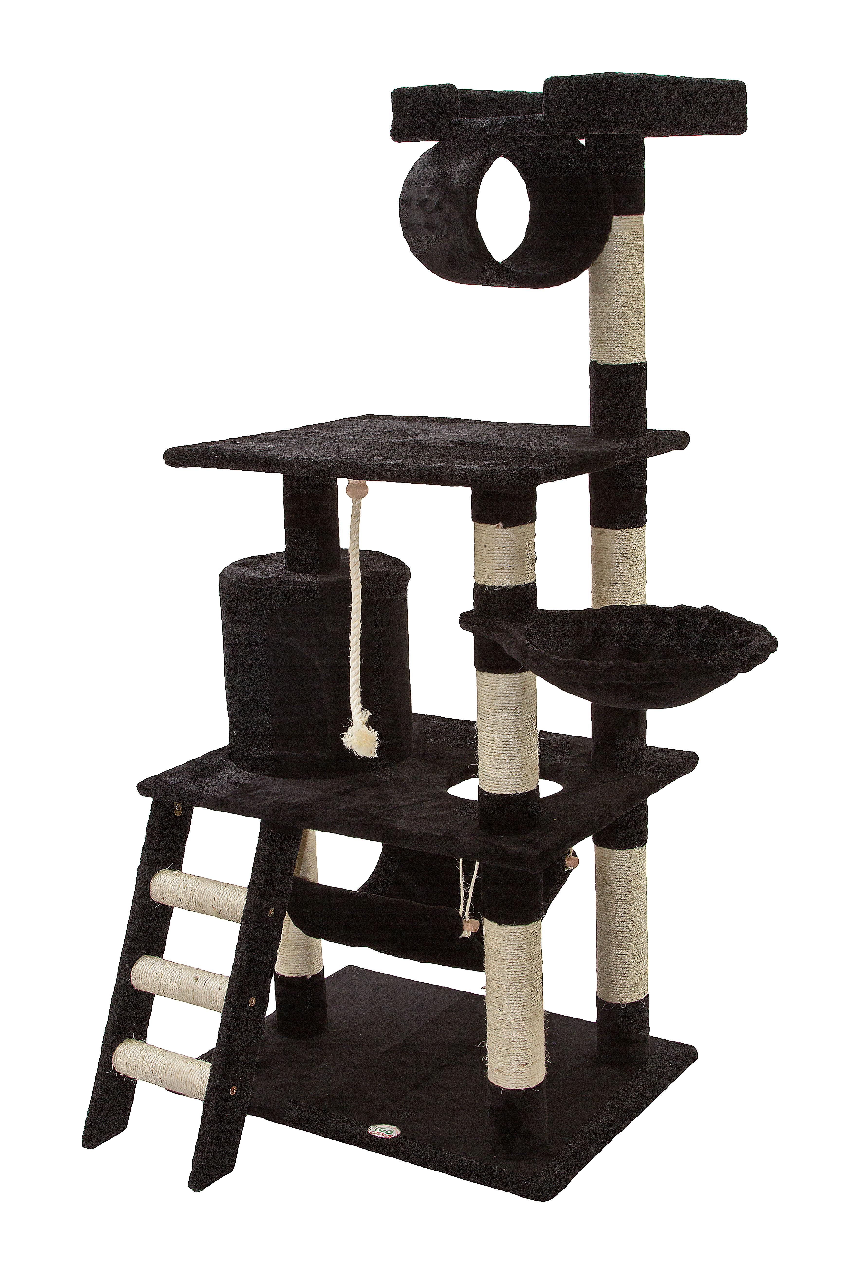 amazoncom  go pet club inch cat tree black  pet supplies - go pet club cat tree furniture  in high