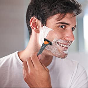 man shaving;razor;triple blade;shaving cream;best razor;disposable razor; 3 blade razor; shaver