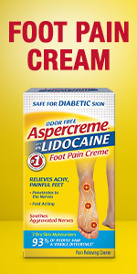 Foot pain relief cream.