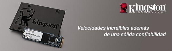 SSD Disco Duro Solido Kingston rapidez velocidad descktop laptop confiabilidad