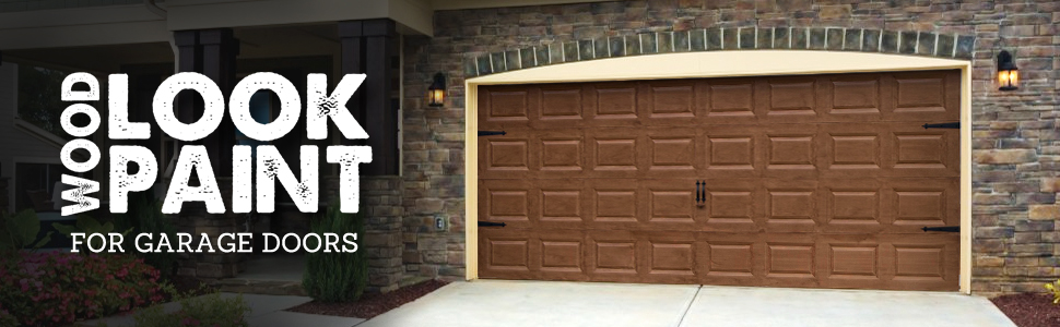 Giani Wood Look Garage Door Paint Kit 2 Car Royal
