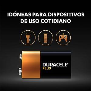 Las pilas Duracell Plus son unas pilas alcalinas multiuso idóneas para dispositivos de uso cotidiano
