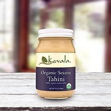 Sesame Tahini, Organic Tahini, Sesame seeds dip, dressing, sesame seed butter,