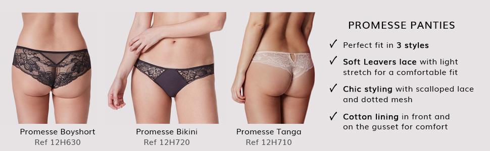 Promesse, Promesse panty, Bikini, Tanga, Thong, Boyshort, Simone Perele panty, panties,women's panty