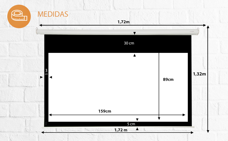 Pantalla de proyeccion Manual Luxscreen 72