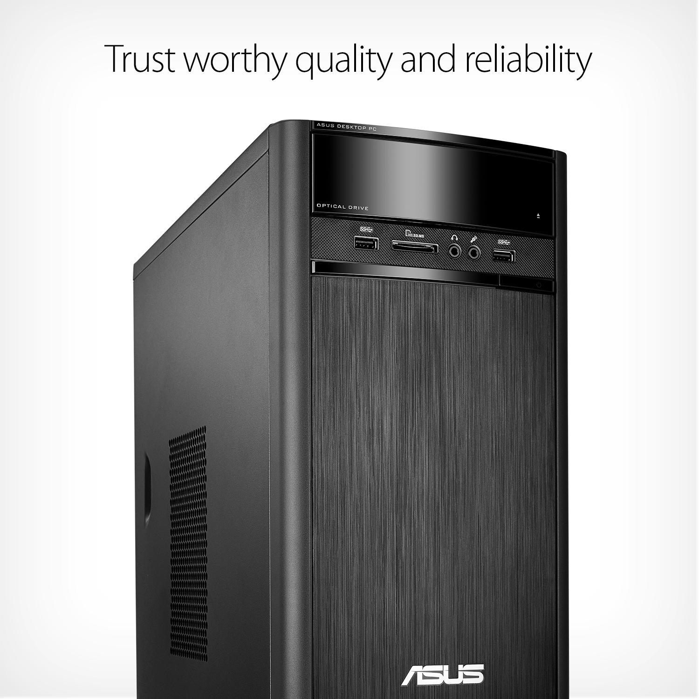 asus k31cd tower desktop pc intel core i3. Black Bedroom Furniture Sets. Home Design Ideas