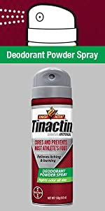 Tinactin AF Athletes Foot Deodorant Powder Spray antifngal tinea athletes foot cure
