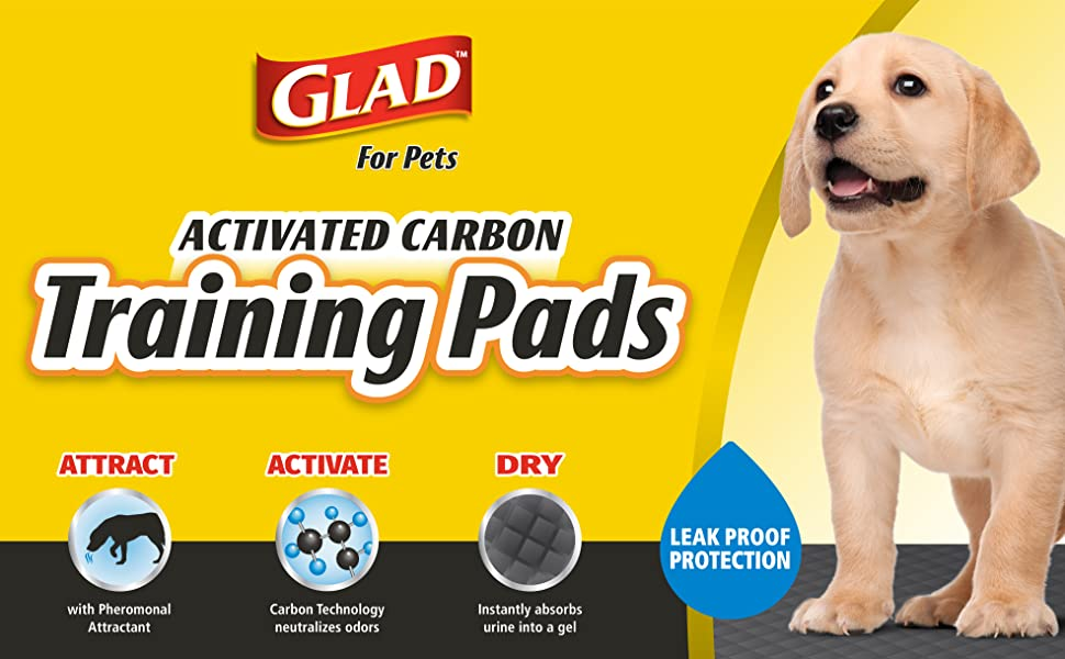 Glad, Pet, Dog, Puppy, Training, Pads, Activated, Carbon