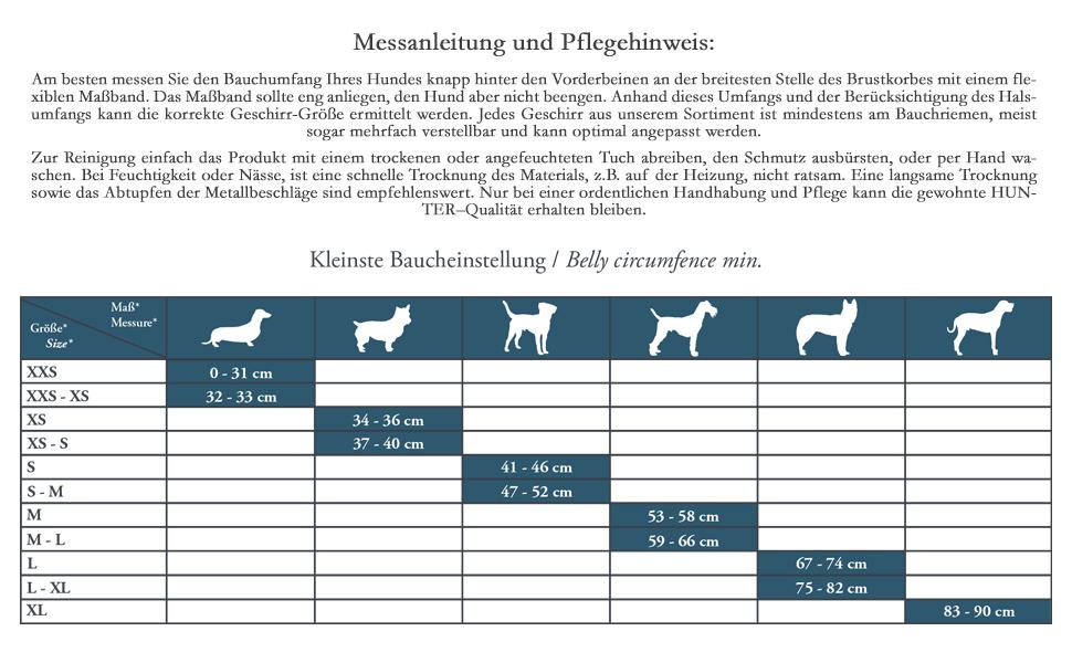 rei/ßfestem Nylon HUNTER VARIO RAPID ausbruchsicheres Panikgeschirr f/ür /ängstliche Hunde aus anschmiegsamen