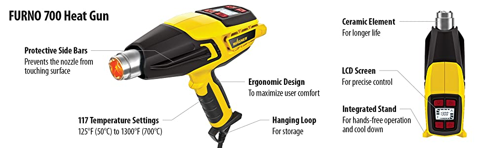Wagner FURNO 700 Heat Gun Hot Air Tool for Home and Workshops