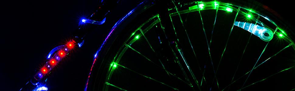 bike party tire lights bright fun