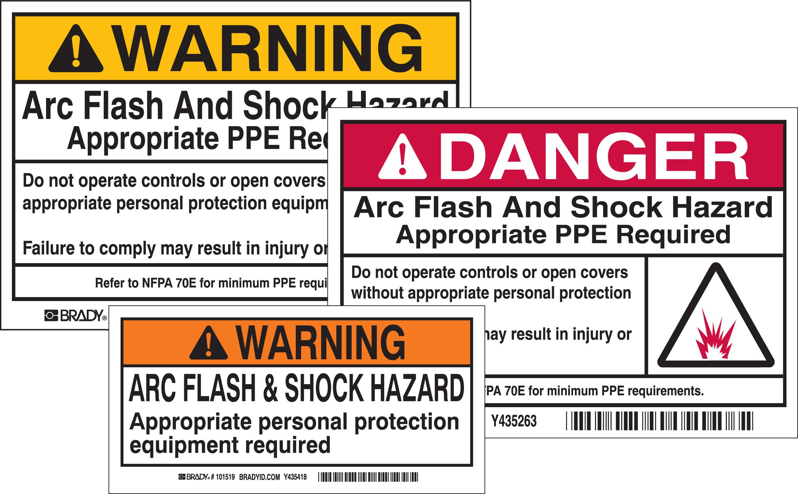 Amazoncom brady 121079 vinyl write on arc flash labels for How to read arc flash labels