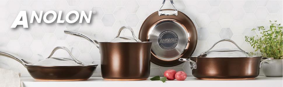 pots and pans, nonstick cookware, Anolon, Anolon cookware