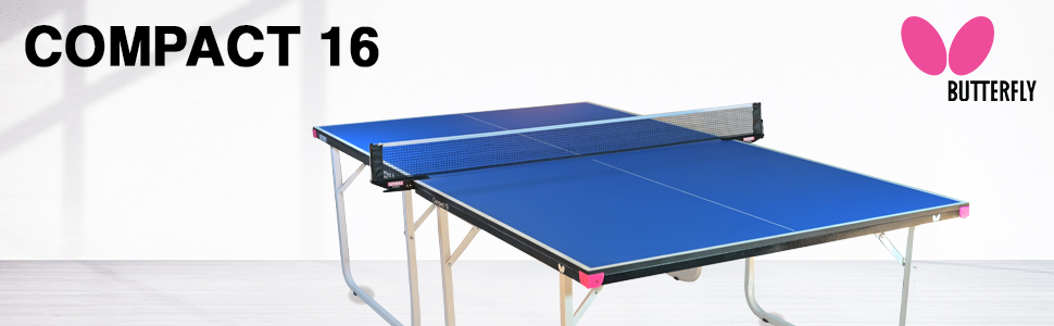 Compact 16 table tennis table